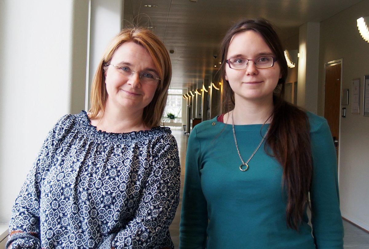 Humanisticums karriärsafari – Helena Strandell och Ylva Biri.