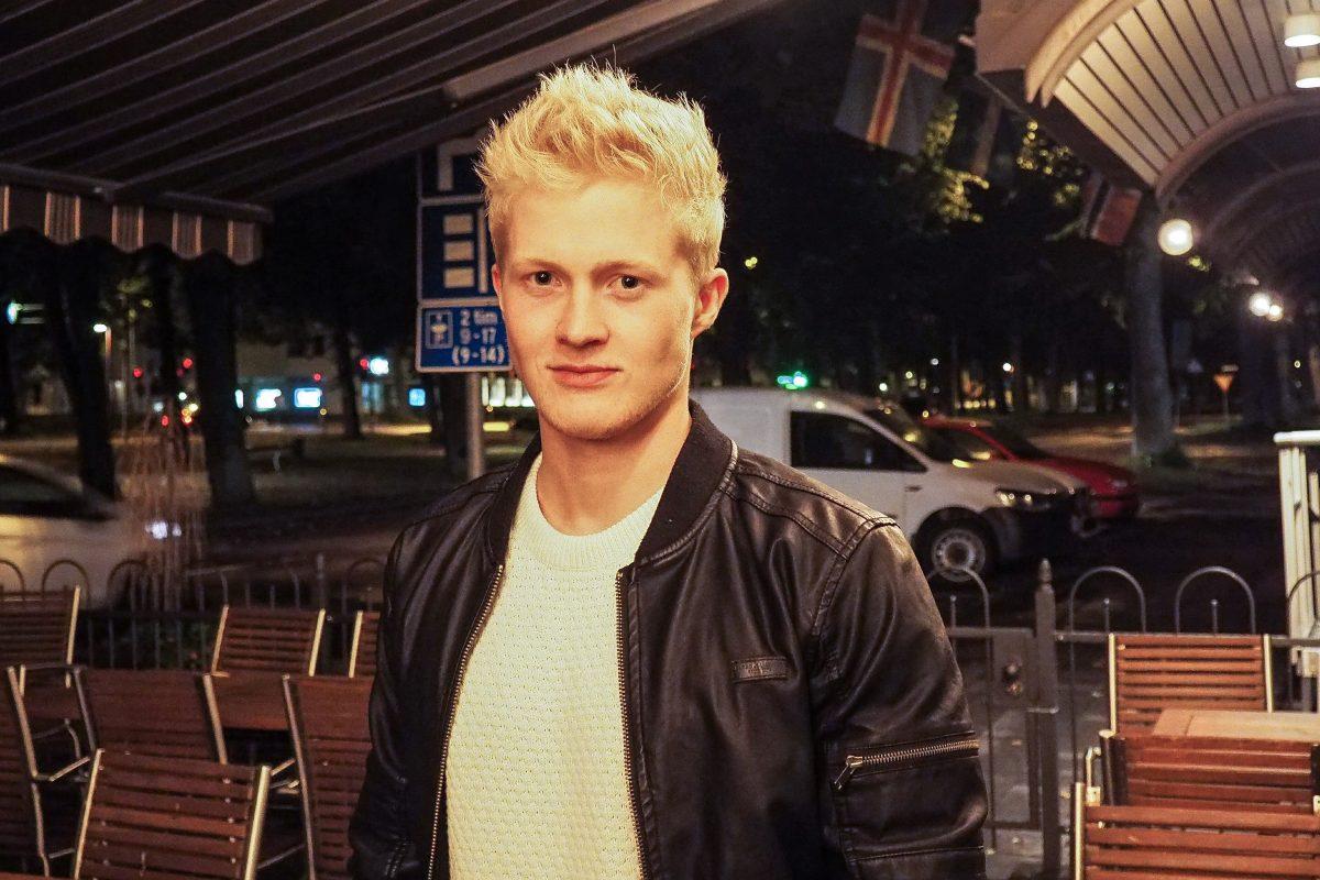 Hannes Rundberg är ordförande för Skåhla, Studerandekåren vid Högskolan på Åland.