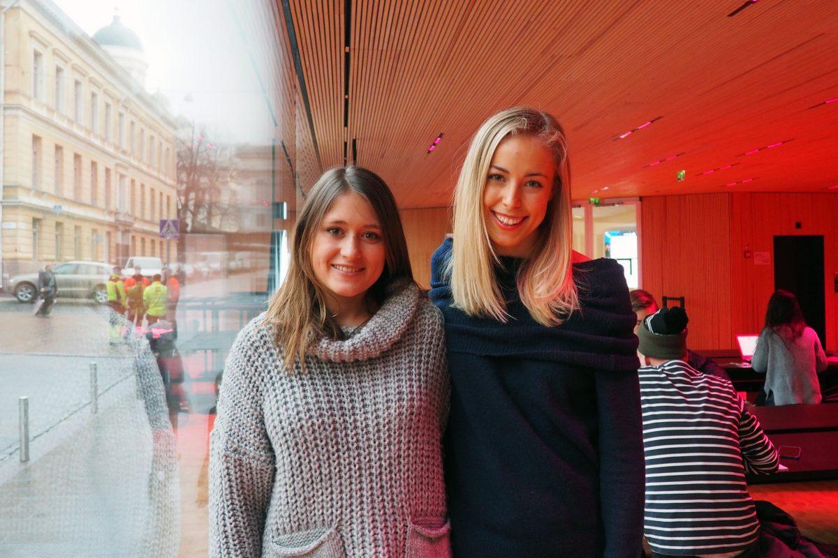 Siri Enckell och Francesca Zilliacus.